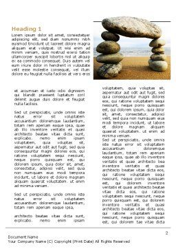 Balanced Stone Gate Word Template, First Inner Page, 07427, Religious/Spiritual — PoweredTemplate.com