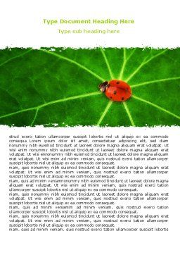 Bug on Leaf Word Template Cover Page