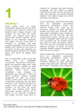 Bug on Leaf Word Template First Inner Page