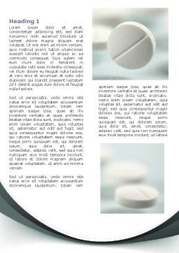 Falling Pills Word Template, First Inner Page, 07434, Medical — PoweredTemplate.com