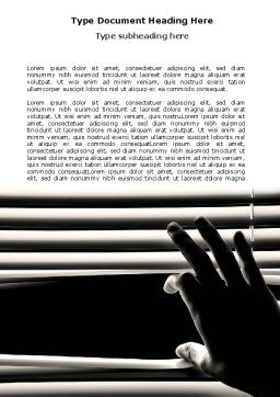 Window Blinds Word Template, Cover Page, 07436, Consulting — PoweredTemplate.com