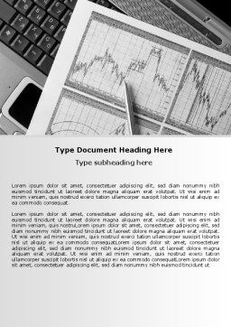 Business Graph Word Template, Cover Page, 07437, Financial/Accounting — PoweredTemplate.com