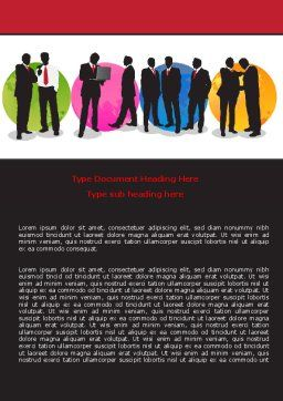 Business People Theme Word Template, Cover Page, 07438, Business — PoweredTemplate.com