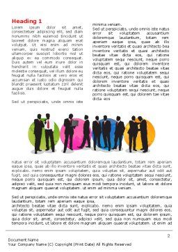 Business People Theme Word Template, First Inner Page, 07438, Business — PoweredTemplate.com