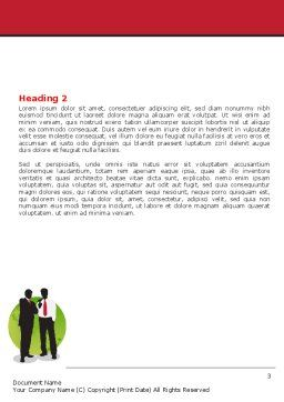 Business People Theme Word Template, Second Inner Page, 07438, Business — PoweredTemplate.com