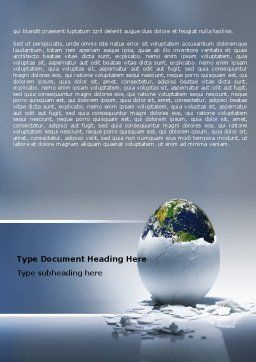 Earth Egg Word Template, Cover Page, 07439, Business Concepts — PoweredTemplate.com