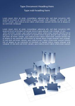 Puzzle Building Word Template, Cover Page, 07440, Consulting — PoweredTemplate.com