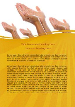Begging Hands Word Template, Cover Page, 07442, Religious/Spiritual — PoweredTemplate.com
