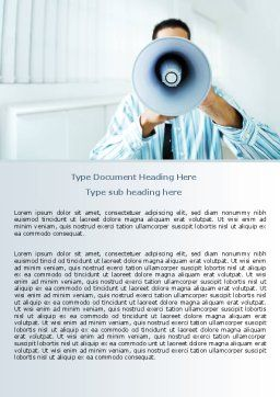 Loud Hailer Word Template, Cover Page, 07444, Business — PoweredTemplate.com