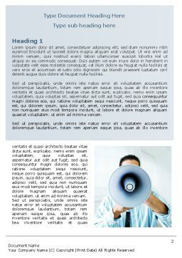 Loud Hailer Word Template, First Inner Page, 07444, Business — PoweredTemplate.com