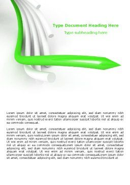 3D Abstract Tubes Word Template, Cover Page, 07446, Business Concepts — PoweredTemplate.com