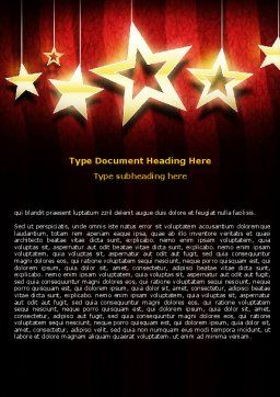 Golden Stars Word Template, Cover Page, 07448, Careers/Industry — PoweredTemplate.com