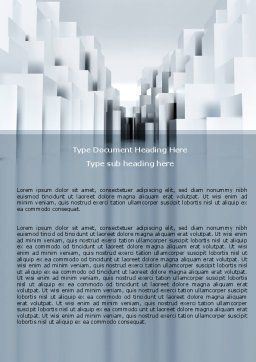 Urban Architecture In Gray Color Word Template, Cover Page, 07451, Construction — PoweredTemplate.com