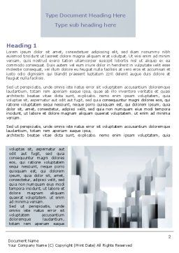 Urban Architecture In Gray Color Word Template, First Inner Page, 07451, Construction — PoweredTemplate.com
