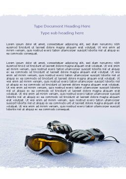 Sport Goggles Word Template, Cover Page, 07452, Sports — PoweredTemplate.com