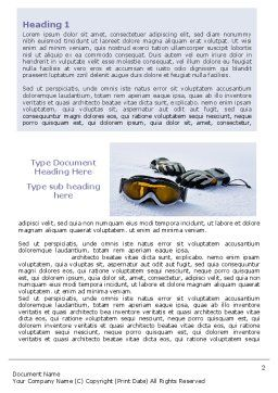 Sport Goggles Word Template, First Inner Page, 07452, Sports — PoweredTemplate.com