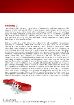 Red Wrench Word Template, Second Inner Page, 07454, Business — PoweredTemplate.com