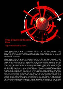 Red Sphere On A Black Background Word Template, Cover Page, 07458, Business — PoweredTemplate.com