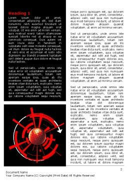 Red Sphere On A Black Background Word Template, First Inner Page, 07458, Business — PoweredTemplate.com