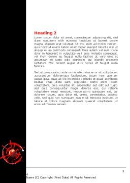 Red Sphere On A Black Background Word Template, Second Inner Page, 07458, Business — PoweredTemplate.com