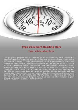 Scales Word Template, Cover Page, 07459, Medical — PoweredTemplate.com