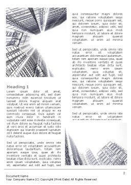 Business Center In Graphic Mode Word Template, First Inner Page, 07460, Construction — PoweredTemplate.com