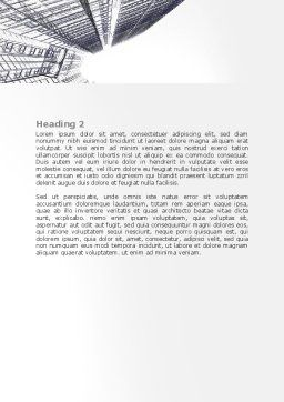 Business Center In Graphic Mode Word Template, Second Inner Page, 07460, Construction — PoweredTemplate.com