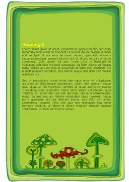 Amanita Word Template, Second Inner Page, 07464, Education & Training — PoweredTemplate.com