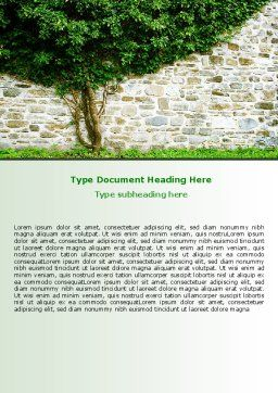 Tree On The Wall Word Template Cover Page