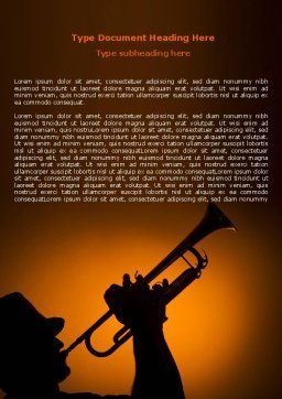 Trumpeter Word Template Cover Page