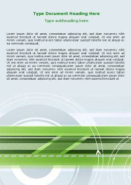 Turning Wheel Word Template, Cover Page, 07474, Business — PoweredTemplate.com