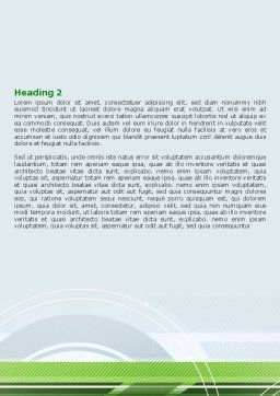 Turning Wheel Word Template, Second Inner Page, 07474, Business — PoweredTemplate.com