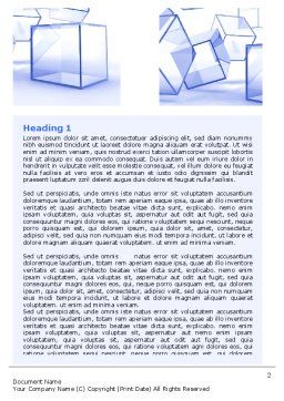 Glass Cube Word Template, First Inner Page, 07475, Business — PoweredTemplate.com