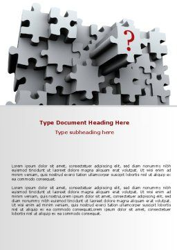 3 Dimensional Puzzle Word Template, Cover Page, 07476, Consulting — PoweredTemplate.com