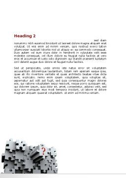3 Dimensional Puzzle Word Template, Second Inner Page, 07476, Consulting — PoweredTemplate.com