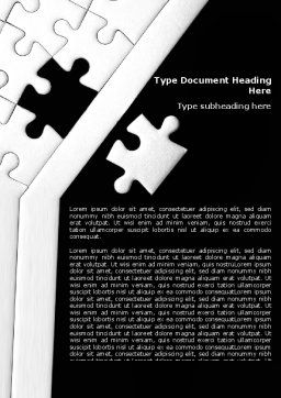 Contrast Puzzle Word Template, Cover Page, 07477, Consulting — PoweredTemplate.com