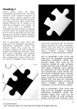 Contrast Puzzle Word Template, First Inner Page, 07477, Consulting — PoweredTemplate.com
