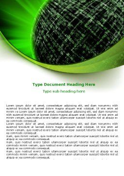 Matrix Sphere Word Template, Cover Page, 07478, Technology, Science & Computers — PoweredTemplate.com