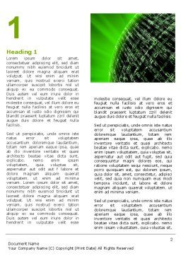 Matrix Sphere Word Template, First Inner Page, 07478, Technology, Science & Computers — PoweredTemplate.com