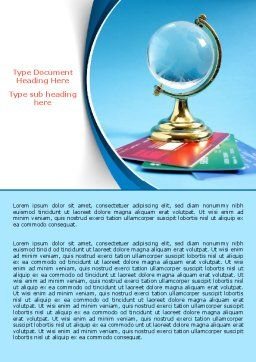 Crystal Globe At The Plastic Cards Word Template Cover Page