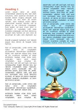 Crystal Globe At The Plastic Cards Word Template First Inner Page