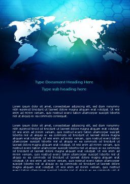 Cells Of World Word Template, Cover Page, 07480, Global — PoweredTemplate.com