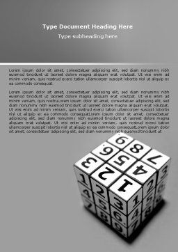 Digital Rubik Word Template, Cover Page, 07489, Consulting — PoweredTemplate.com