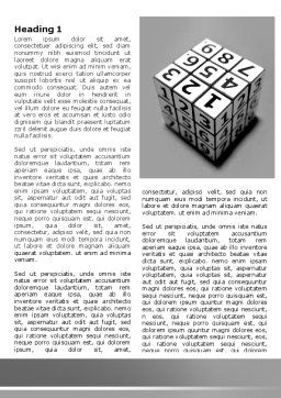 Digital Rubik Word Template, First Inner Page, 07489, Consulting — PoweredTemplate.com