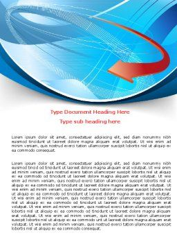 Abstract Pointer Design Word Template, Cover Page, 07490, Business — PoweredTemplate.com
