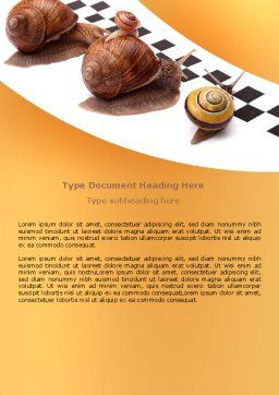 Races Word Template, Cover Page, 07493, Consulting — PoweredTemplate.com