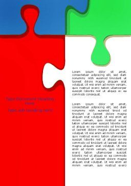 Color Puzzle Word Template, Cover Page, 07494, Consulting — PoweredTemplate.com