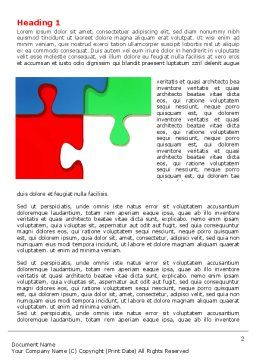 Color Puzzle Word Template, First Inner Page, 07494, Consulting — PoweredTemplate.com