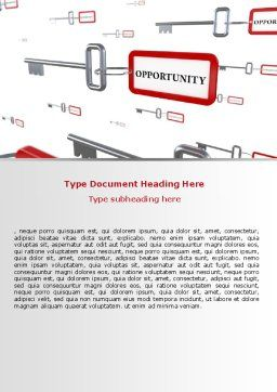 Key Opportunity Word Template, Cover Page, 07495, Consulting — PoweredTemplate.com