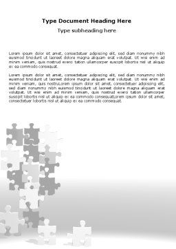 Tower Of Puzzle Word Template, Cover Page, 07496, Consulting — PoweredTemplate.com